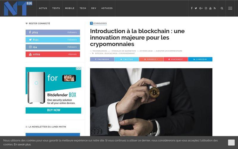 Introduction à la blockchain : une innovation pour les crypomonnaies - blog-nouvelles-technologies