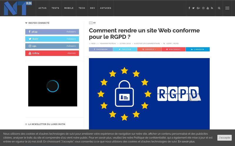 Comment rendre un site Web conforme pour le RGPD ?