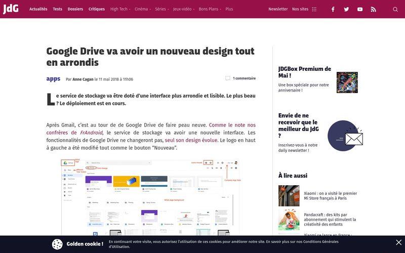 Journal du Geek : Google Drive va avoir un nouveau design tout en arrondis