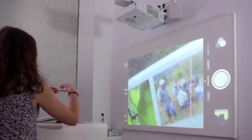 vidéoprojecteur interactif à lampe